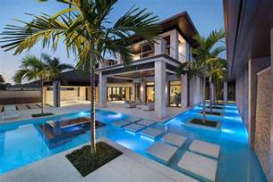 custom dream home in florida with elegant swimming pool luxury coastal house plans on florida island paradise