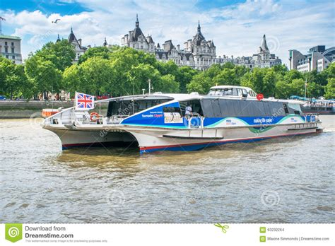 thames river taxi timetable union jack flies on london river bus passing somerset