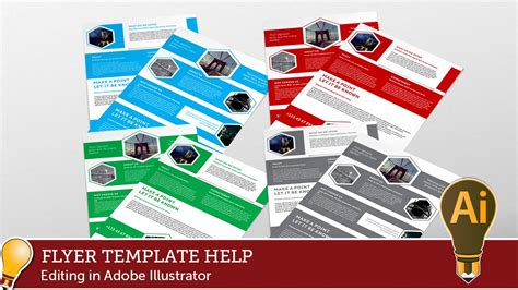 Corporate Hive Flyer Template Editing With Adobe Illustrator Youtube Adobe Illustrator Flyer Template