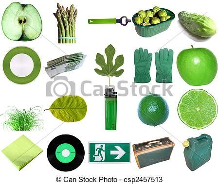 green objects. green colour theme a collection of objects.