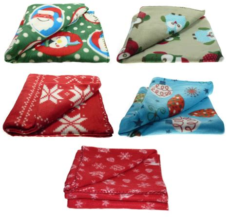 fleece sofa throw blanket christmas soft fleecy throw over festive xmas polar fleece