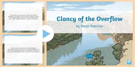 Clancy Of The Overflow Essay by Clancy Of The Overflow Poem Banjo Paterson Australian Poets