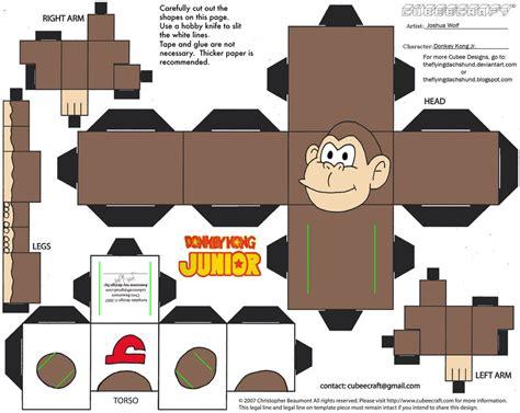 Kong Papercraft - vg17 kong jr cubee by theflyingdachshund on deviantart