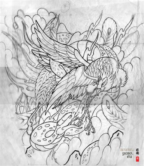 tattoo japanese sketch japanese phoenix tattoo cerca con google phoenix