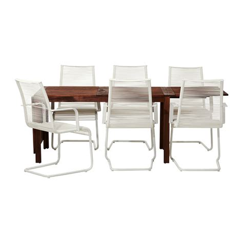 ikea outdoor dining 196 pplar 214 v 196 sman table and 6 armchairs ikea