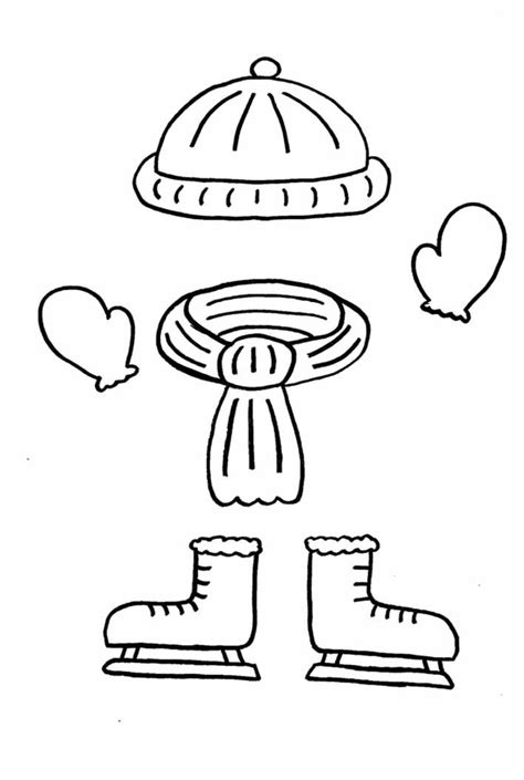 coloring page of winter clothes clothes coloring coloring home