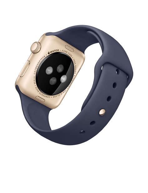 Apple 2 Series 1 42mm Aluminum Gold Midnight Blue Sport apple sport 42mm with midnight blue band and gold smartwatches org