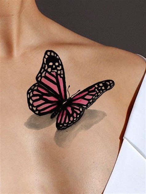 black butterfly tattoos designs black and pink butterfly on front shoulder