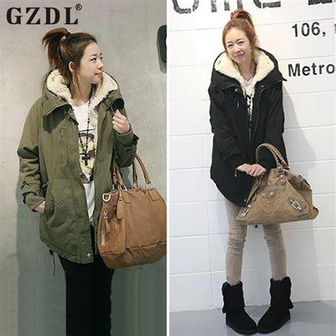 Jaket Fleece Korea Zipper Pria gzdl fashion winter coat sleeve zipper thicken fleece hooded parka overcoat autumn