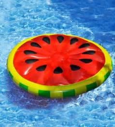 watermelon inflatable island pool float in water pool toys