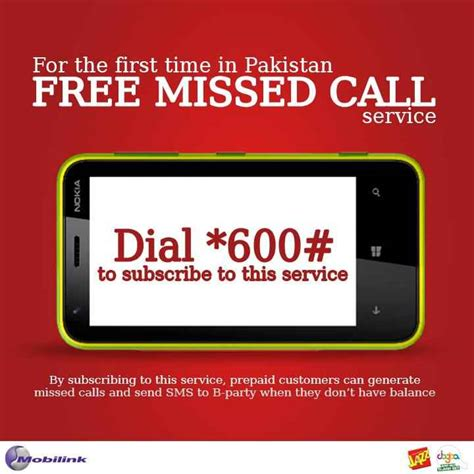 Missed Call Finder Name Address Mobilink Introduce Free Missed Call And Sms Service Learningall