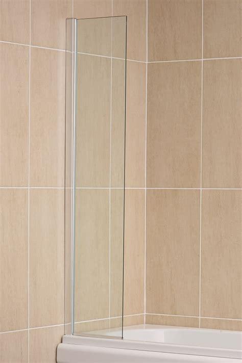 fixed bath shower screens fixed panel bath shower screen water deflector 400mm square cut ebay