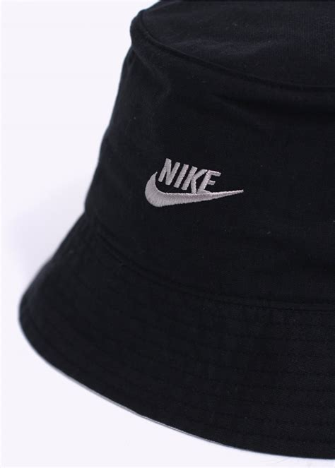nike logo bucket hat black