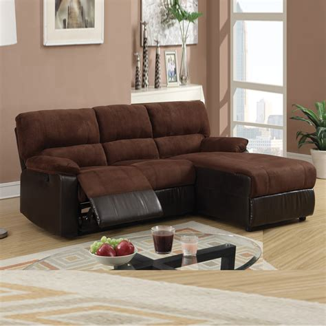 Small Sectional Couches With Recliners small chocolate microfiber loveseat recliner right chaise