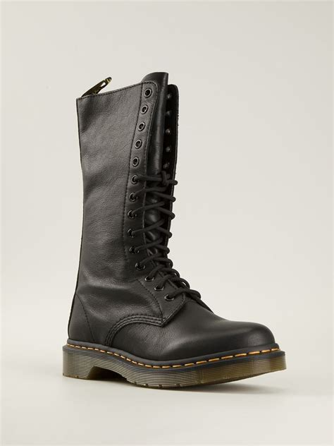 side zip boots dr martens side zip boots in black lyst