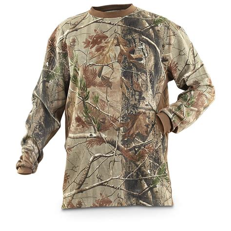 guide gear 174 realtree 174 wrangler 174 pro gear sleeved thermal shirt 212732