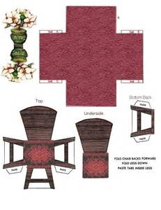 Papercraft Chair - paper crafts interior model kitchen 2 ammey s attic