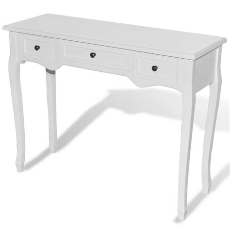 sofa table with 3 drawers white dressing console table with three drawers www