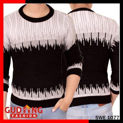 Sweater Pria Rajut Abu sweater rajut tribal terbaru pria rajut abu hitam swe