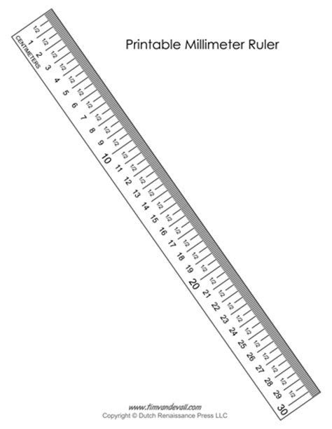 Printable Ruler Centimeters And Millimeters | printable millimeter ruler tim s printables