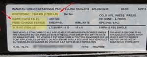 Trailer Tire Identification Number Replacement Vin Vehicle Identification Number Stickers