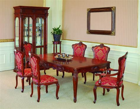 Lavish Antique Dining Room Furniture Emphasizing Classic Dining Room Furniture