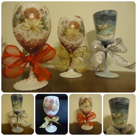 bicchieri decorati per natale la bottega delle fate creative bicchieri natalizi