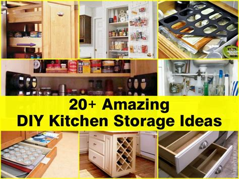 diy storage ideas 20 amazing diy kitchen storage ideas