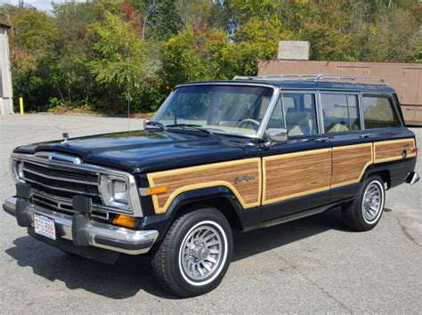 1989 jeep wagoneer interior 1989 jeep grand wagoneer 50k black with sand