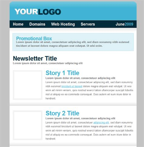 free web hosting css html template plus newsletter
