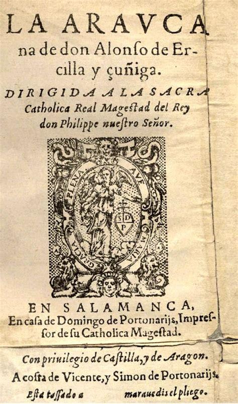 libro la araucana letras latinoamericanas la araucana wikipedia
