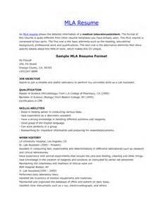 Mla Resume Template by Mla Resume Template Resume Cv Cover Letter