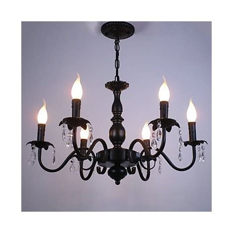 european style chandelier living room candle crystal lamp