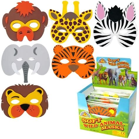 Wild Animal Mask   Jungle Party Ideas   Party Ark