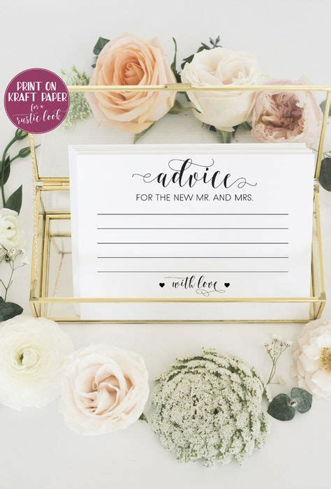 Wedding Advice Cards For Reception by 24 Best Wedding Advice Cards Images On Wedding