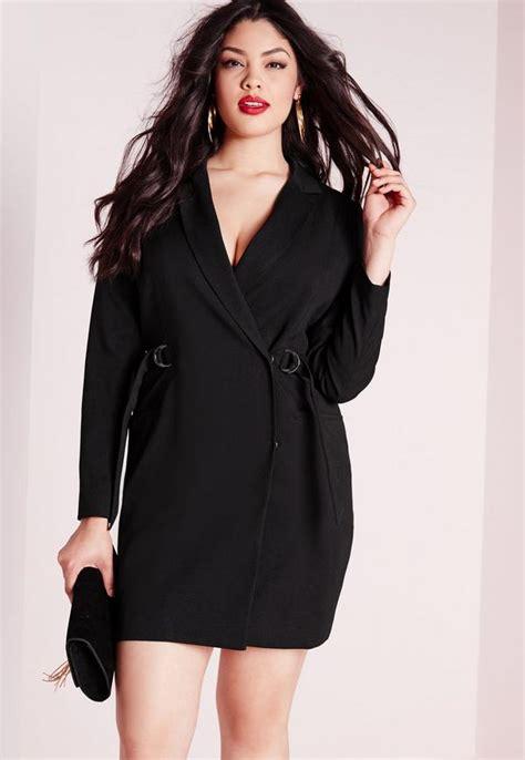 Sk 40 Black Chic Blazer 1 plus size d ring blazer dress black missguided