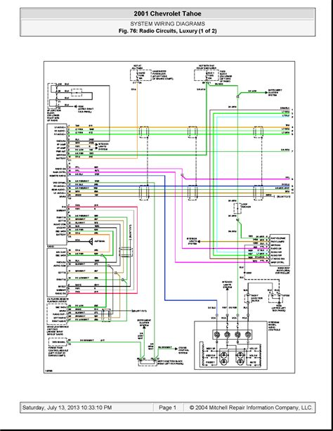 i need a diagram of the stereo wiring in a 2001 chevy tahoe
