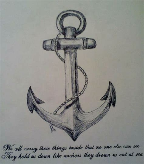 anchor tattoo quotes tumblr the gallery for gt anchor drawings with quotes