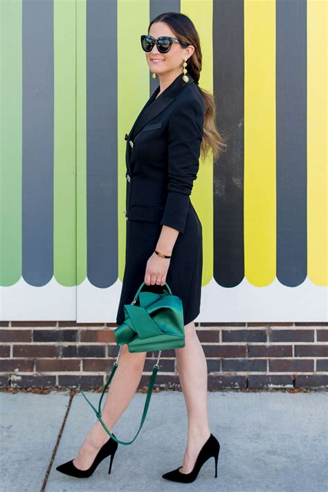 How to Style a Black Tuxedo Dress   Style Charade