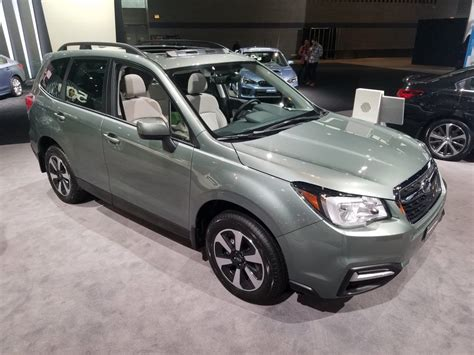 forest green subaru forester local color unusual paint hues at the 2018 chicago auto