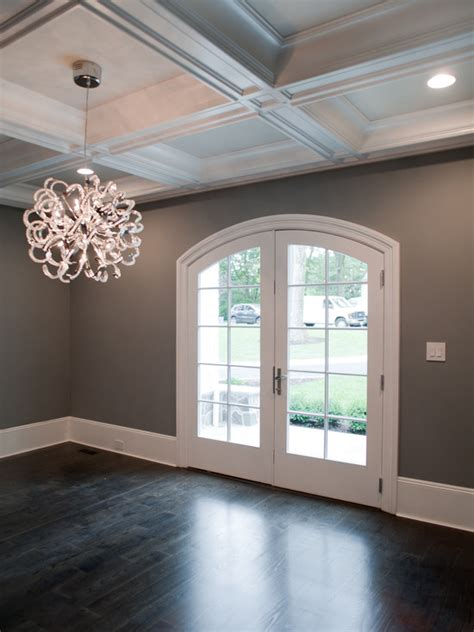 dark gray paint colors transitional dining room