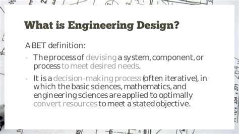design definition engineering introduction to engineering design process