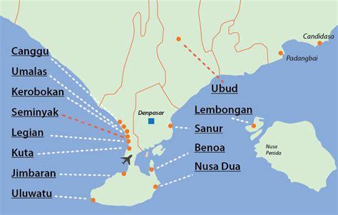 bali map bali travel guide