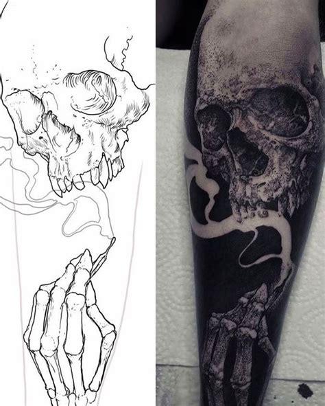 tattoo via vallen smoking skull tattoo from grindesign tattoo