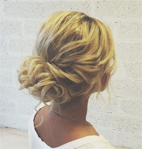 loose buns for chin to shoulder length hair 60 updos for thin hair that score maximum style point