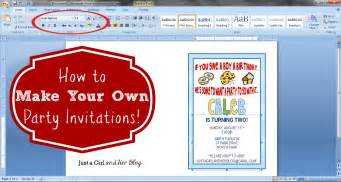how to make your own invitations just a and
