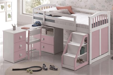 Mid Sleeper Beds by Sweet Dreams Pink White Mid Sleeper Bed The World Of Beds