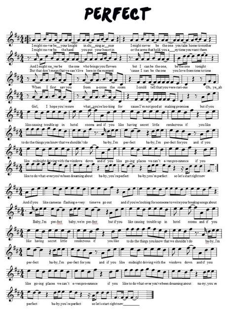 ed sheeran perfect violin one direction perfect violin sheet music sheet music