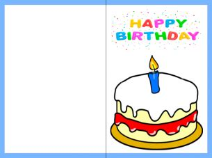 Print Out Birthday Card Printable Happy Birthday Card