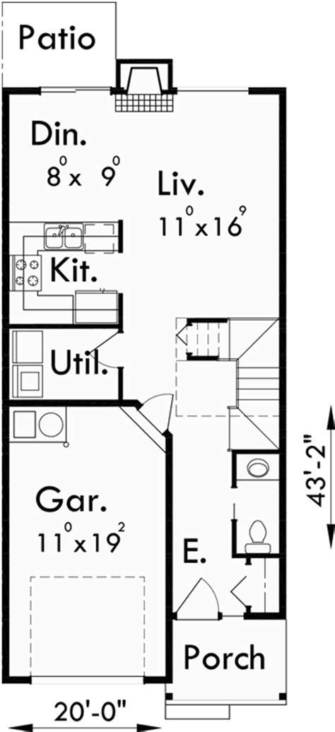 20 Wide House Plans by Duplex House Plans 20 Wide House Plans 4 Bedroom Duplex